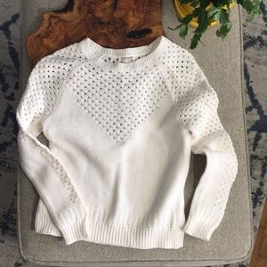 Forever 21 Cutout Ivory Sweater